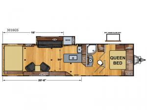 Attitude Wide Lite 3016GS Floorplan Image
