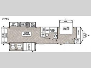 Puma Destination 38RLQ Floorplan Image