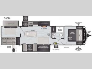 Outback 340BH Floorplan Image