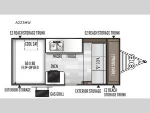 Rockwood Hard Side High Wall Series A223HW Floorplan Image