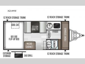 Rockwood Hard Side High Wall Series A214HW Floorplan Image