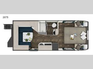 Lance Travel Trailers 2075 Floorplan Image