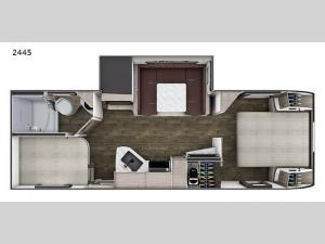Lance Travel Trailers 2445 Floorplan Image