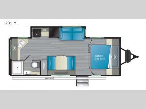 Sundance Ultra Lite 231 ML Floorplan Image