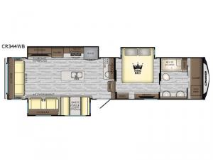 Cruiser CR344WB Floorplan Image