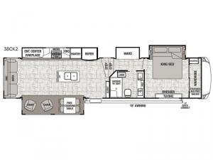 Cedar Creek Hathaway Edition 38CK2 Floorplan Image