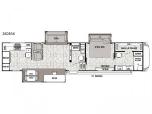 Cedar Creek Hathaway Edition 38DBRK Floorplan Image