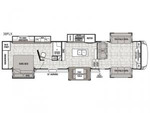 Cedar Creek Hathaway Edition 38FLX Floorplan Image