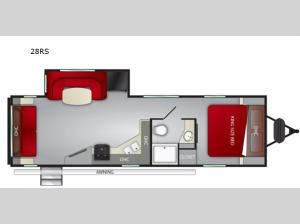 Radiance Ultra Lite 28RS Floorplan Image