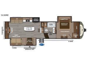 Montana 3130RE Floorplan Image