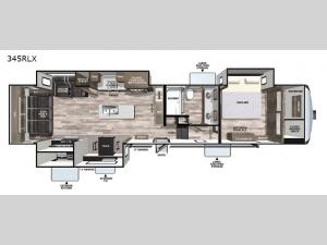 Cardinal Luxury 345RLX Floorplan Image