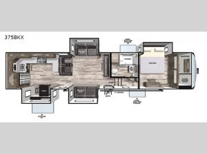 Cardinal Luxury 375BKX Floorplan Image