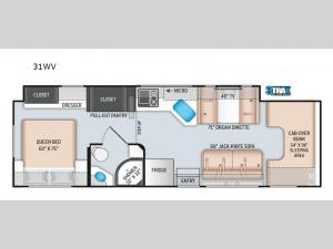 Four Winds 31WV Floorplan Image