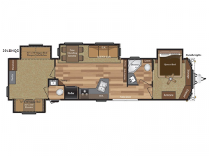 Retreat 391BHQS Floorplan Image