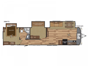 Retreat 39BHTS Floorplan Image