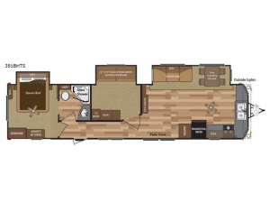 Retreat 391BHTS Floorplan Image