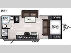 SolAire Ultra Lite 205SS Floorplan Image