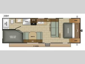 Avalon 26BH Floorplan Image