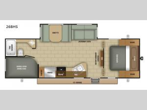 Avalon 26BHS Floorplan Image