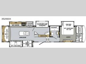 Cardinal Luxury 3525SOX Floorplan Image