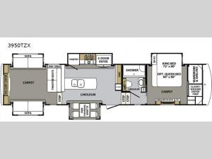Cardinal Luxury 3950TZX Floorplan Image