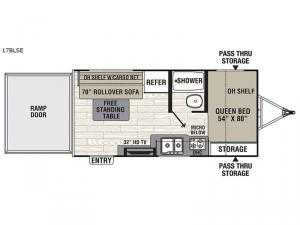 Freedom Express Select 17BLSE Floorplan Image