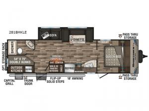 Sportsmen LE 281BHKLE Floorplan Image