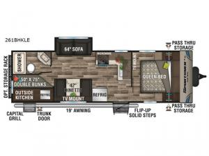 Sportsmen LE 261BHKLE Floorplan Image