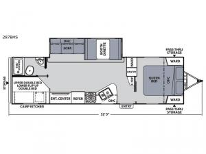 Apex Ultra-Lite 287BHS Floorplan Image