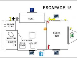 Prolite Escapade 15 Floorplan Image