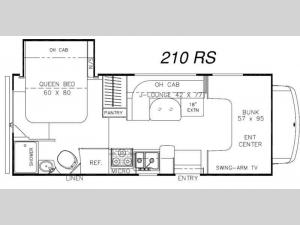 Leprechaun 210RS Ford 450 Floorplan Image