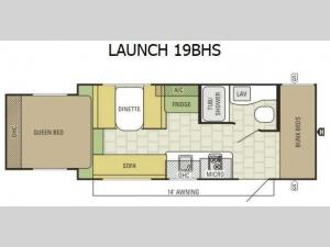 Launch 19BHS Floorplan Image