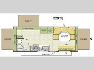 Travel Star 229TB Floorplan Image