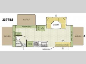 Travel Star 239TBS Floorplan Image