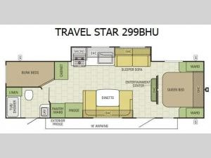 Travel Star 299BHU Floorplan Image