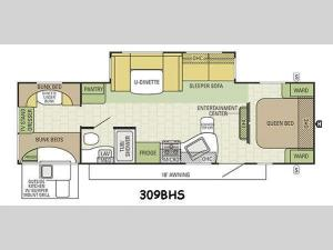 Travel Star 309BHS Floorplan Image