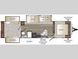 Outback 322BH Floorplan Image