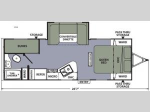 Apex Ultra-Lite 23LE Floorplan Image