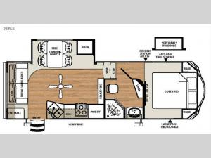 Sierra Select 25RLS Floorplan Image