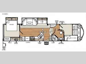 Sierra Select 32QBBS Floorplan Image