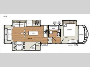 Sierra Select 34CK Floorplan Image