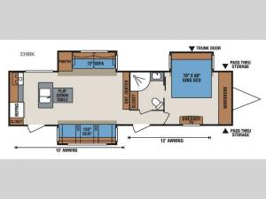 Spree 339RK Floorplan Image