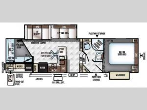 Rockwood Signature Ultra Lite 8291WS Floorplan Image