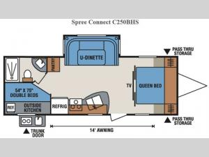 Spree Connect C250BHS Floorplan Image
