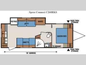 Spree Connect C260RKS Floorplan Image