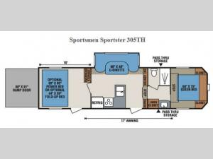 Sportsmen Sportster 305TH Floorplan Image