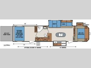 Sportsmen Sportster 355TH12 Floorplan Image