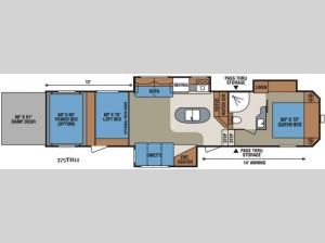 Sportsmen Sportster 375TH12 Floorplan Image