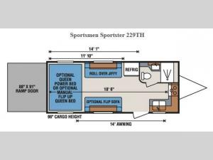 Sportsmen Sportster 229TH Floorplan Image