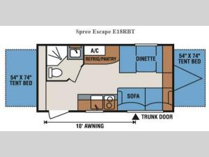 Spree Escape E18RBT Floorplan Image